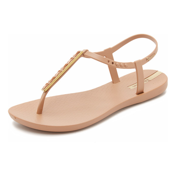 IPANEMA pietra t strap sandals - A metallic T stap and a lightly textured footbed accent