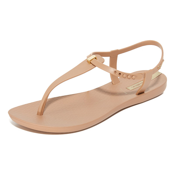 IPANEMA premium lenny desire sandals - A slim metallic accent details the T-strap on these casual