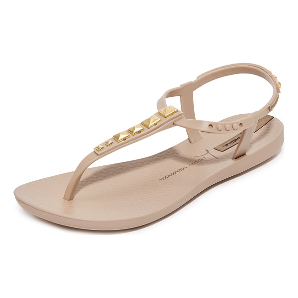 IPANEMA premium lenny rocker sandals - Metallic studs detail the T-strap on these rubber Ipanema