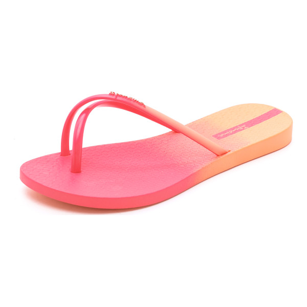 IPANEMA Sunset ombre flip flops - Casual Ipanema flip flops with pretty ombré shading. Rubber...