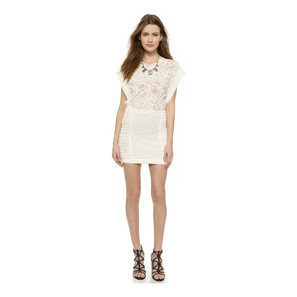 IRO Floa dress - Slinky lace brings a sultry look to this IRO mini dress,...