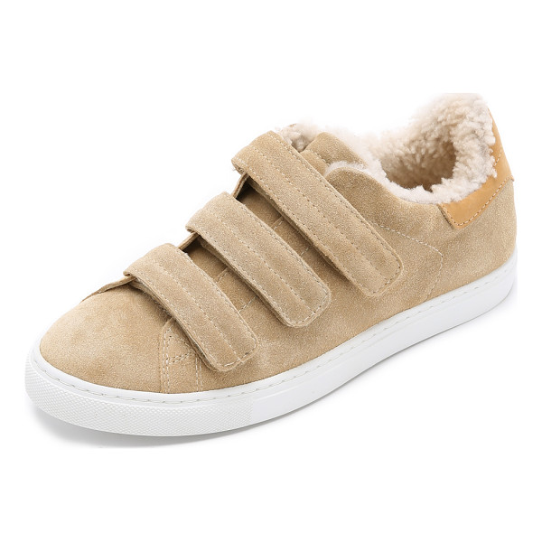 IRO Nuno sneakers - These suede IRO sneakers are trimmed in shearling and...