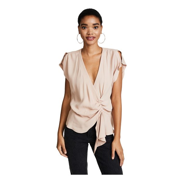 IRO tramna top - This asymmetrical IRO blouse has a gathered center front...
