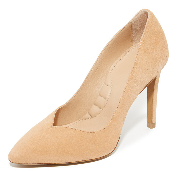 IRO zuzanna pumps - Luxe suede IRO pumps styled with a sculpted top line and a...