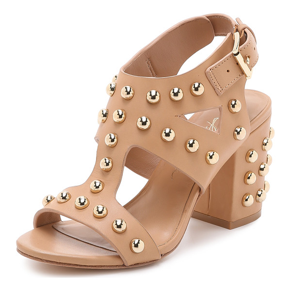 ISA TAPIA Alona studded block heel sandals - These leather Isa Tapia sandals are covered in bold studs