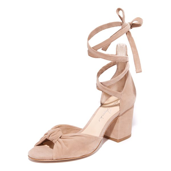 ISA TAPIA carina wrap city sandals - Smooth suede Isa Tapia sandals styled with a knotted vamp....