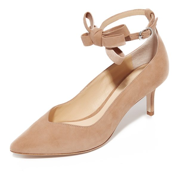 ISA TAPIA mariana kitten heels - Suede Isa Tapia heels with a pointed toe and sculpted top...