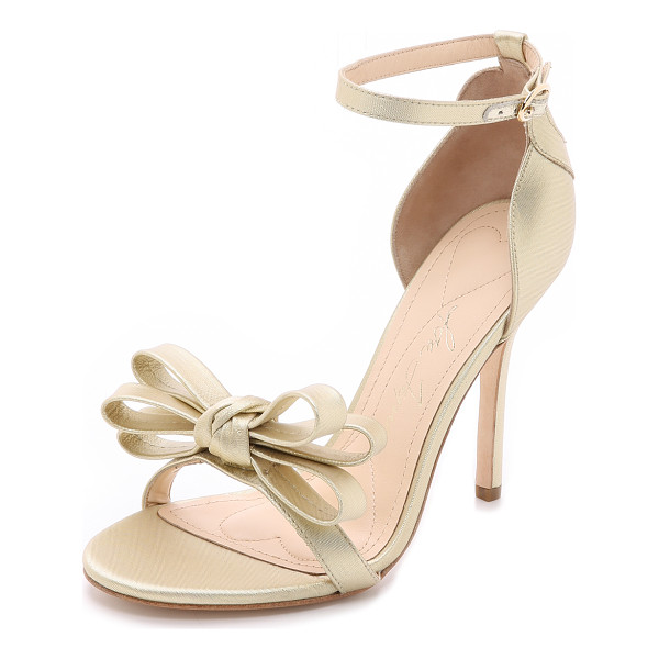 ISA TAPIA Shelby sandals - Bold, feminine Isa Tapia pumps with a brushed metallic...