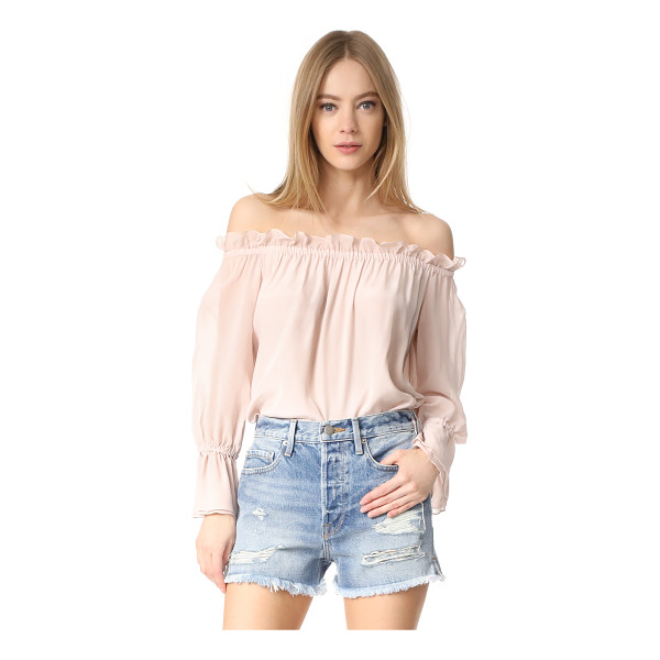 ISOLDA frufru top - A feather-light Isolda top with an off-shoulder silhouette,...