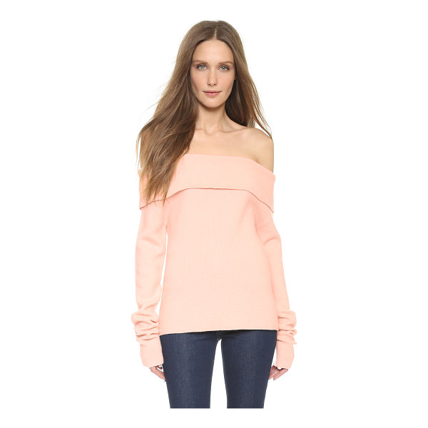 ISSA Dani off shoulder sweater - A soft ISSA sweater in a flirty, off shoulder profile. Long...