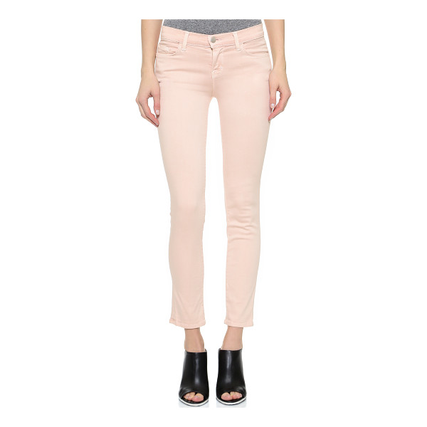 J BRAND Photo ready mid rise rail jeans - Mid rise J Brand skinny jeans with an ankle length profile...