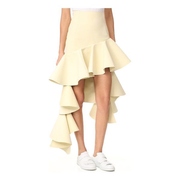 JACQUEMUS tiered skirt - Flounced, asymmetrical ruffles lend a dramatic touch to