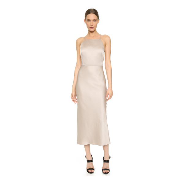 JASON WU Cocktail halter dress - An elegant Jason Wu cocktail dress in fluid sateen....