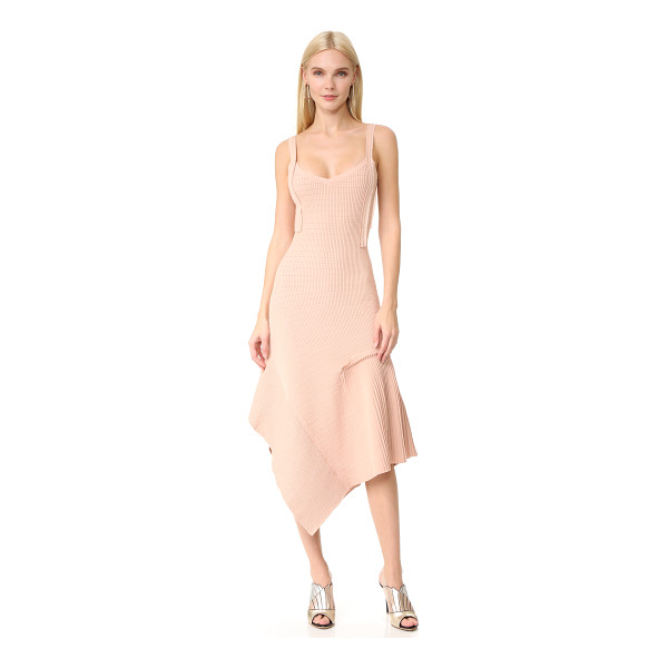 JASON WU tank dress - A pleated section and angled hem bring unique asymmetry to...