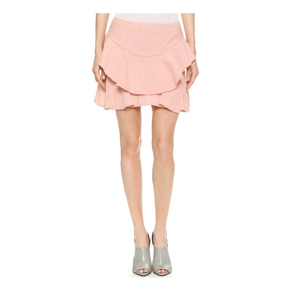 JAY AHR Embroidered cotton skirt - Embroidered, metallic beading lends a playful, textured...