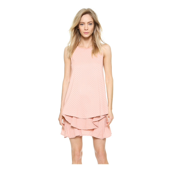 JAY AHR Sleeveless satin eyelet top - Tiny, frayed diamond shaped cutouts lend a daring hit of...