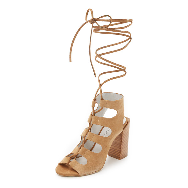 JEFFREY CAMPBELL Allow sandals - Slim ties lace the front of these soft suede Jeffrey...
