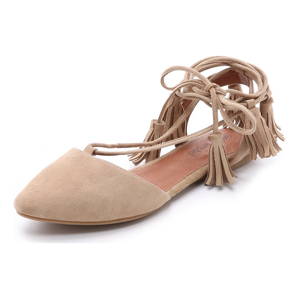 JEFFREY CAMPBELL Amour suede flats - Suede Jeffrey Campbell flats in a ladylike d'orsay profile....
