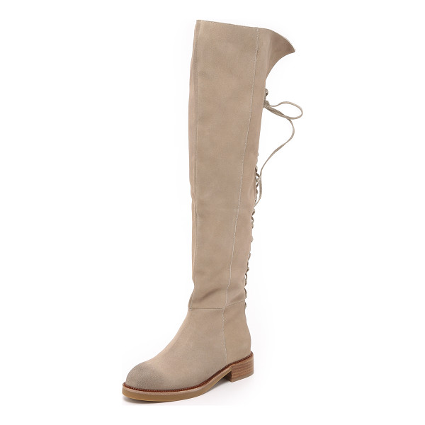 JEFFREY CAMPBELL Bireli over the knee boots - Lace up detailing accents the back of these suede Jeffrey...