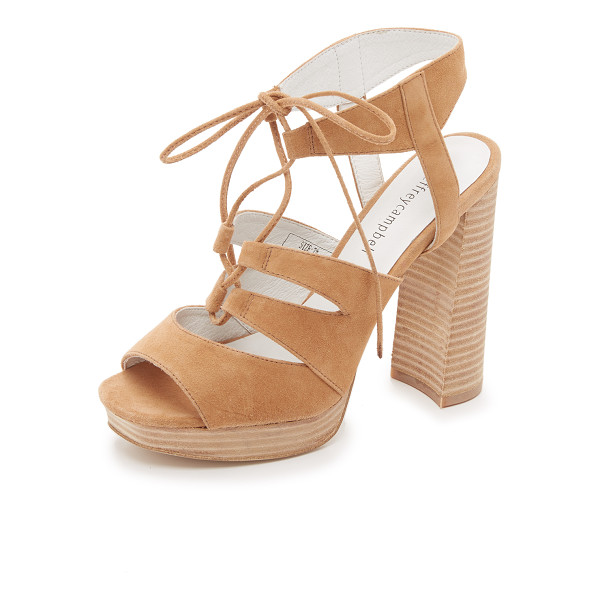 JEFFREY CAMPBELL Ibex sandals - Smooth suede Jeffrey Campbell sandals styled with a lace up