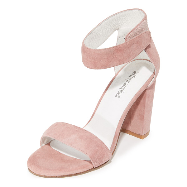 JEFFREY CAMPBELL lindsay sandals - Refined Jeffrey Campbell sandals styled in smooth suede.