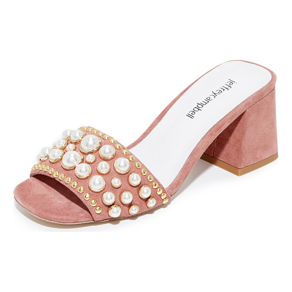 JEFFREY CAMPBELL parr embellished sandals - Imitation pearls and polished studs bring glamorous style...
