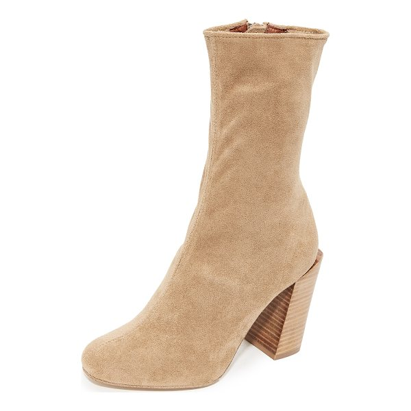 JEFFREY CAMPBELL perouze stretch ankle booties - Formfitting Jeffrey Campbell booties crafted in a stretch,...