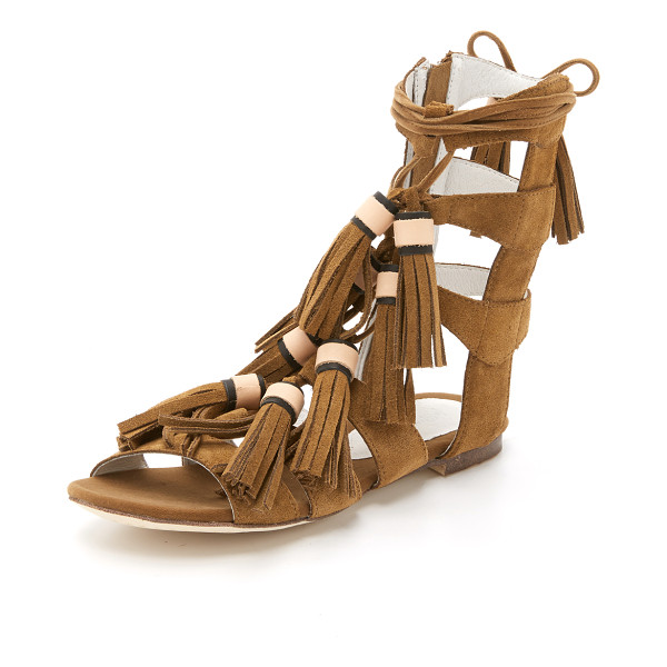 JEFFREY CAMPBELL Redondo sandals - Tassels detail the slim laces on these suede Jeffrey
