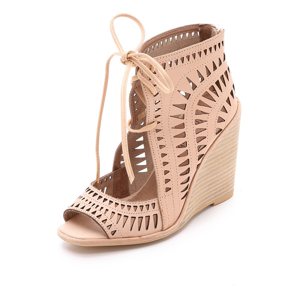 JEFFREY CAMPBELL Rodillo wedge sandals - Laser cut accents detail these open toe Jeffrey Campbell...