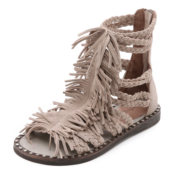 JEFFREY CAMPBELL Santana fringe sandals - Shaggy fringe connects the braided straps on these playful