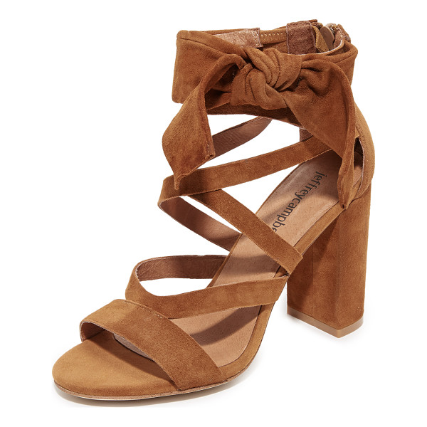 JEFFREY CAMPBELL yasmina sandals - A knotted bow and slim straps compose the substantial ankle...