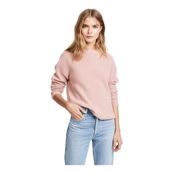 JENNI KAYNE cashmere fisherman sweater - A boxy Jenni Kayne sweater rendered in a soft cashmere...
