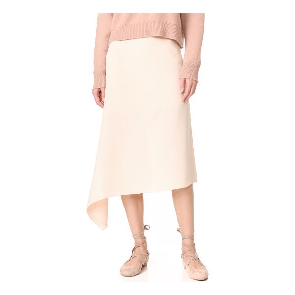 JENNY PARK belita unbalanced hem skirt - An angled seam and split, uneven hem give this JENNY PARK...