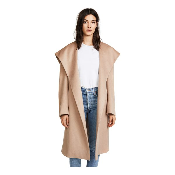 JENNY PARK elysia flared collar coat - A sophisticated JENNY PARK coat in a plush wool-cashmere...