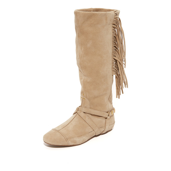 JEROME DREYFUSS arizona fringe boots - Fringe at the slouchy shaft lends a western flair to these