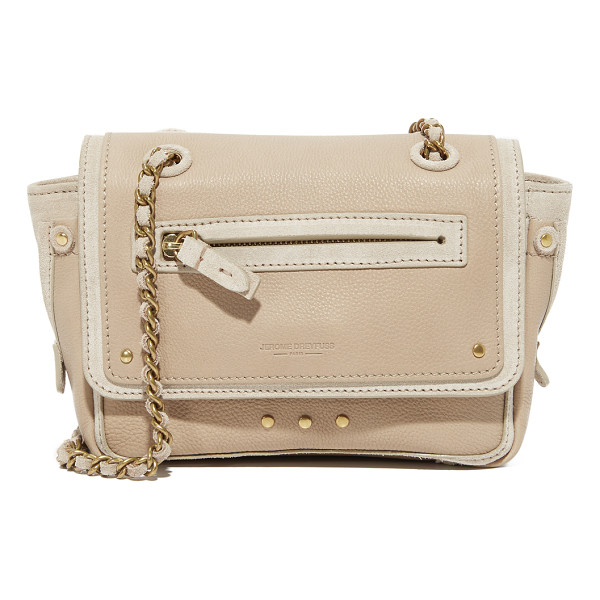 JEROME DREYFUSS benji crossbody bag - Suede contrast trim details this leather Jerome Dreyfuss