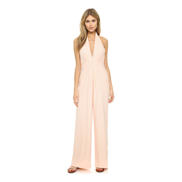 JILL JILL STUART halter jumpsuit - Pleating accentuates the wide leg profile of this Jill Jill...