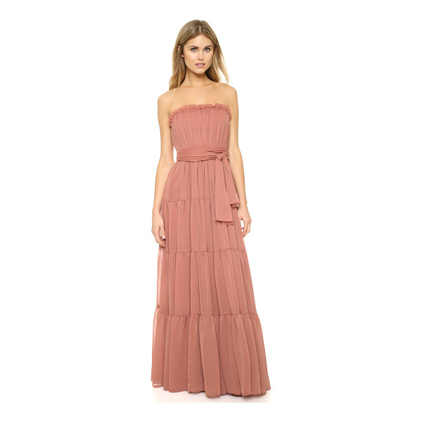 JILL JILL STUART Strapless crinkle chiffon gown - Ruched tiers lend airy volume to this strapless Jill Jill...