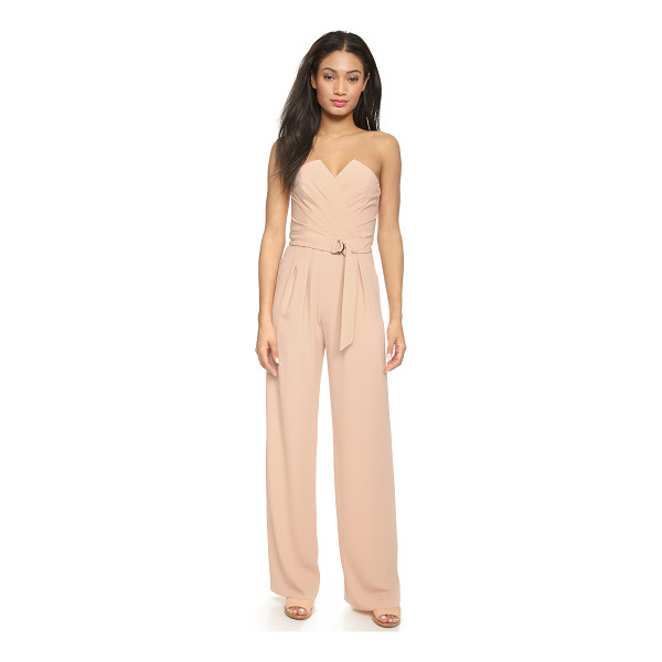 JILL JILL STUART Strapless jumpsuit - Diagonal pleats frame the crossover neckline of this...