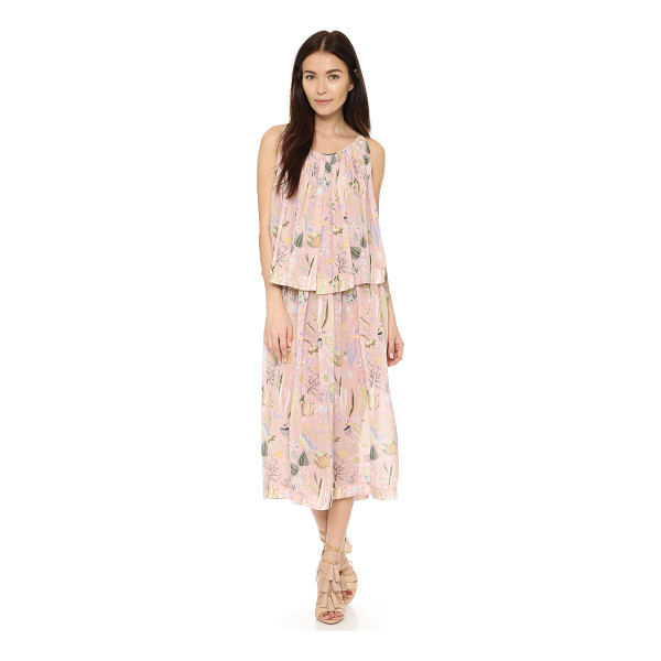 JILL STUART Dasha midi dress - A swingy, floral georgette Jill Stuart midi dress with a...