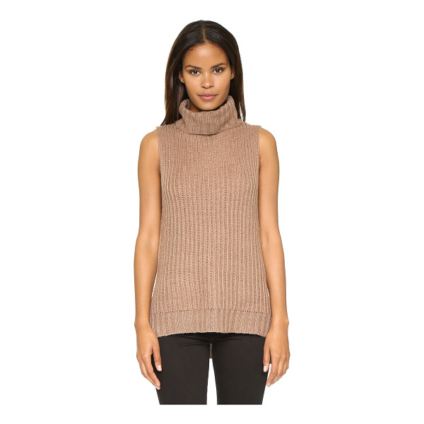 J.O.A. Turtleneck knit top - A cozy J.O.A. top with a slouchy turtleneck. Hidden zips at...