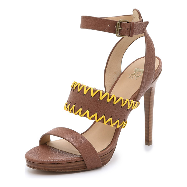 JOE'S JEANS Riana platform sandals - Whipstitching adds a pop of color to these Joe's Jeans...