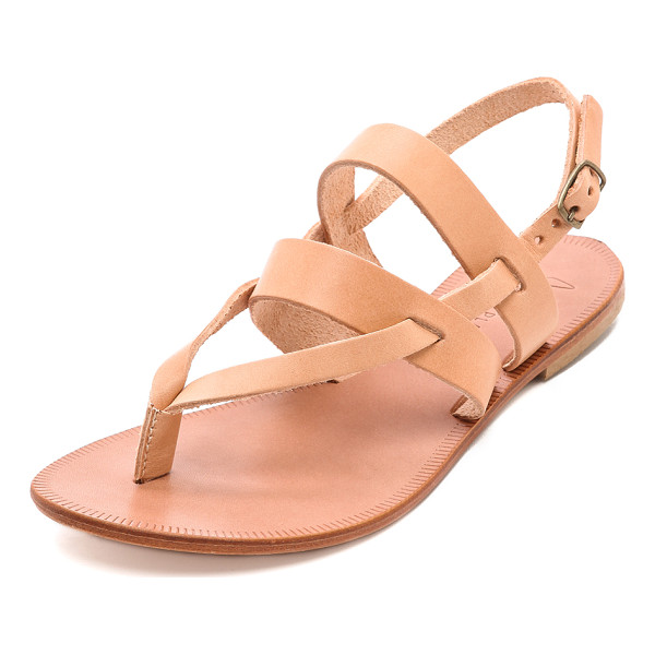JOIE A la plage positano flat sandals - Leather Joie sandals are perfect companions to a poolside...