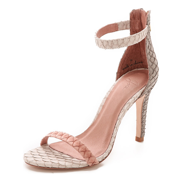 JOIE Abbott sandals - Scale textured panels create a unique look on these...