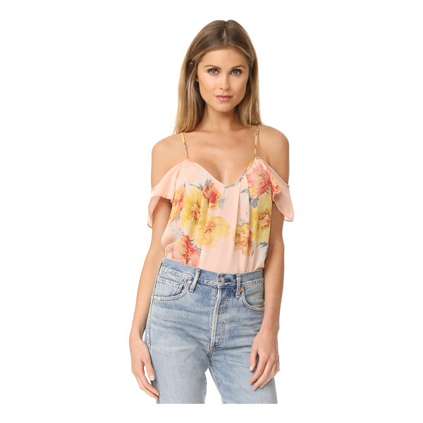 JOIE adorlee top - A blown-up floral print lends a graphic touch to this airy...