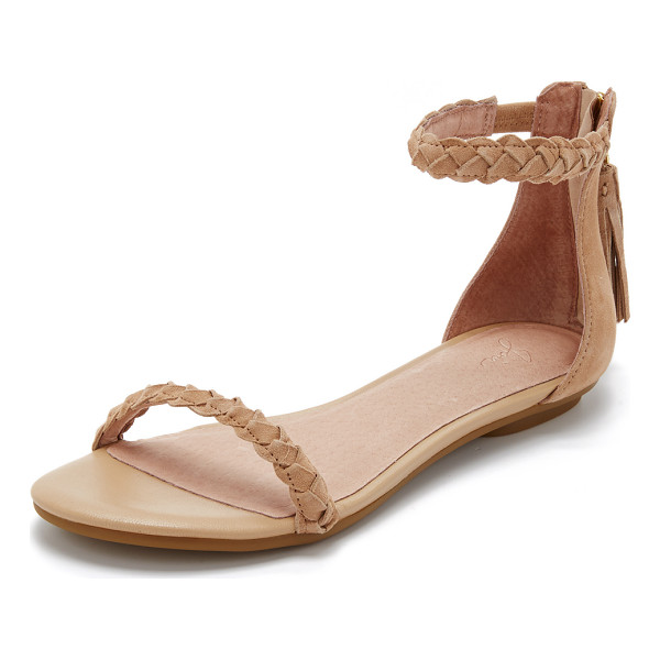 JOIE Amina sandals - Slim braided straps lend a streamlined look to these suede...