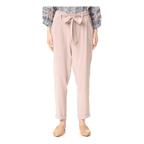 JOIE asuka pants - Washed silk Joie trousers in a high rise silhouette. A tie...