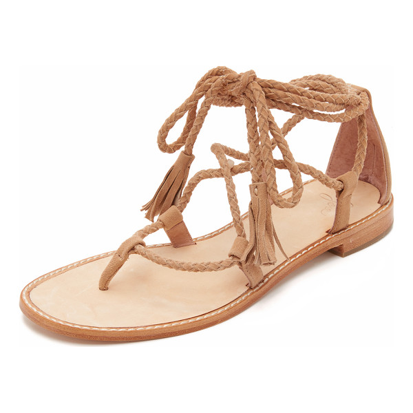 JOIE Bailee sandals - Tassels finish the braided ties on these suede Joie...