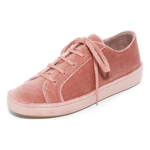 JOIE daryl sneakers - A covered platform adds playful style to these plush velvet...