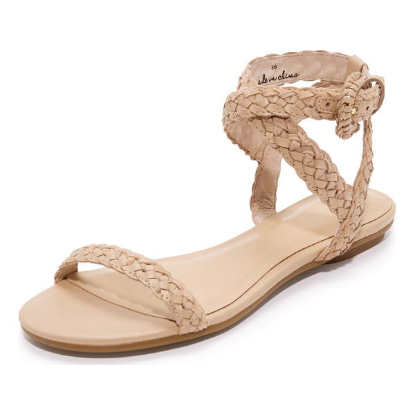 JOIE fadi flat sandals - Casual Joie sandals featuring woven leather straps. Ankle
